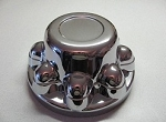 Snap-On Hub Cover, Plastic Chrome, 8 Lug w/ 7/8 inch Lug Nuts