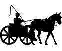 Pleasure Horse Cart Driving Reflective Decal