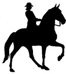 Plantation Walker Horse with Rider Reflective Decal