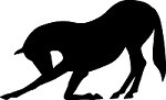 Bowing Horse Reflective Decal