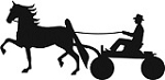 Show Horse in Fine Harness & Man Reflective Decal