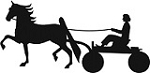 Show Horse in Fine Harness & Woman Reflective Decal