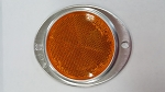 Oval Reflector, Amber with Aluminum Housing