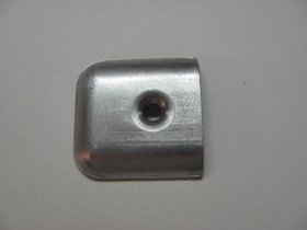 Slot Molding Trim End Cap, Aluminum