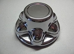 Snap-On  Hub Cover, Chrome Plastic, 6 Lug