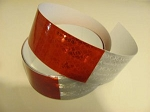 SALE! Red & White Reflective Tape, Signal-Stat by 3M- *Sold by the 18