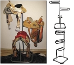 3 Tier Saddle Rack