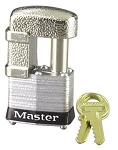 Masterlock Hasp orTrigger-Type Coupler Lock w/ 2 Pin Sizes