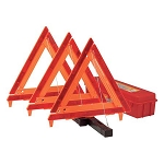 Safety Triangle, Box of 3, Emergency Warning Kit
