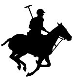 Polo Player & Horse Reflective Decal
