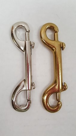 "Double-Ended Snap, 4 1/2"" Long- in Brass or Chrome/Nickel"