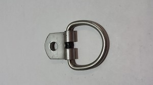 D Ring, Stainless Steel, 1 Bolt