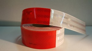 "Red and White Reflective Tape, By 3M- *Sold by the 18"" section"