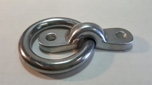 Tie Ring, Aluminum with Mounting Bracket, POLISHED
