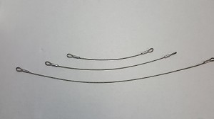 Lanyards, Aircraft Cable with 2 closed ends- in 3 lengths