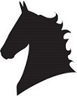 Show Horse's Head Reflective Decal