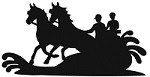 Marathon Horse Pairs Driving Reflective Decal