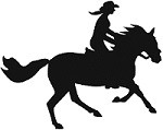 Cantering Trail Horse & Woman Reflective Decal