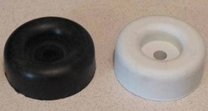 LARGE  Round Rubber Door Stop in Black or White