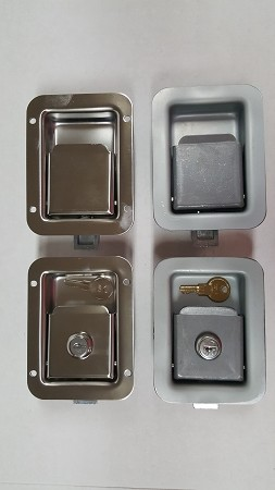 All Four Flush Mount Door Latches