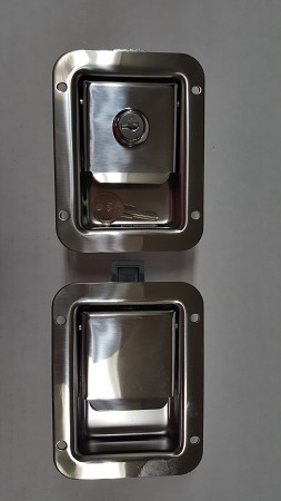 Flush Mount Latch, Stainless Steel -choose LOCKING or NON-LOCKING