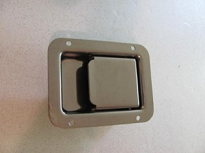 Flush Mount Latch, Non-Locking, choose Zinc or Stainless Steel