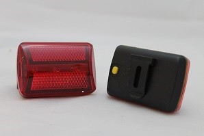 Red Flashing Safety Light, Clip-On