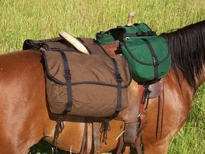 CANTLE SADDLE BAG  by Garden Horse Upholstery