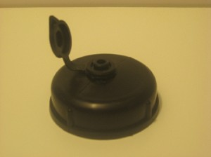 Water Tank or Caddy Replacement Cap with Air Vent, Black