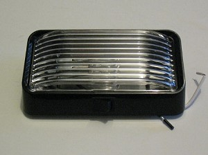 Porch Light With Power Switch, Rectangular- in choice of 2 colors
