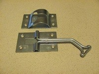 "4""  Positive Door Holders: 45 degree bend, ZINC"