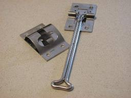 Stainless Steel Positive Door Holders w/Spring Hooks and/or Bracket Clips