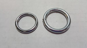 Steel Ring, Polished, Choose from 2 Sizes