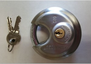 Round Stainless Steel Padlock -- choose a Single or Keyed-Alike Sets