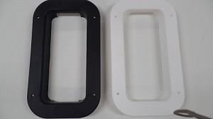 LOW PROFILE Two-Way Roof Vent Plastic Trim- Choose: BLACK or WHITE